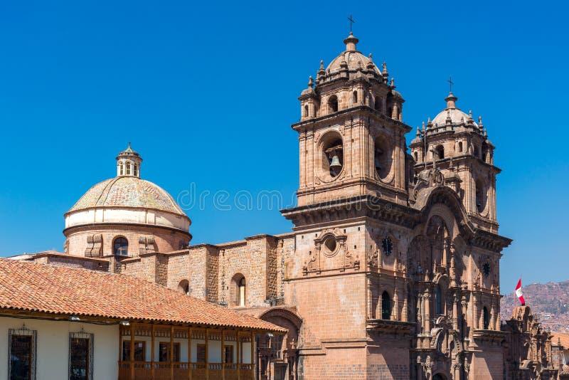 Igreja da sociedade de Jesus de Cusco, Peru fotos de stock royalty free