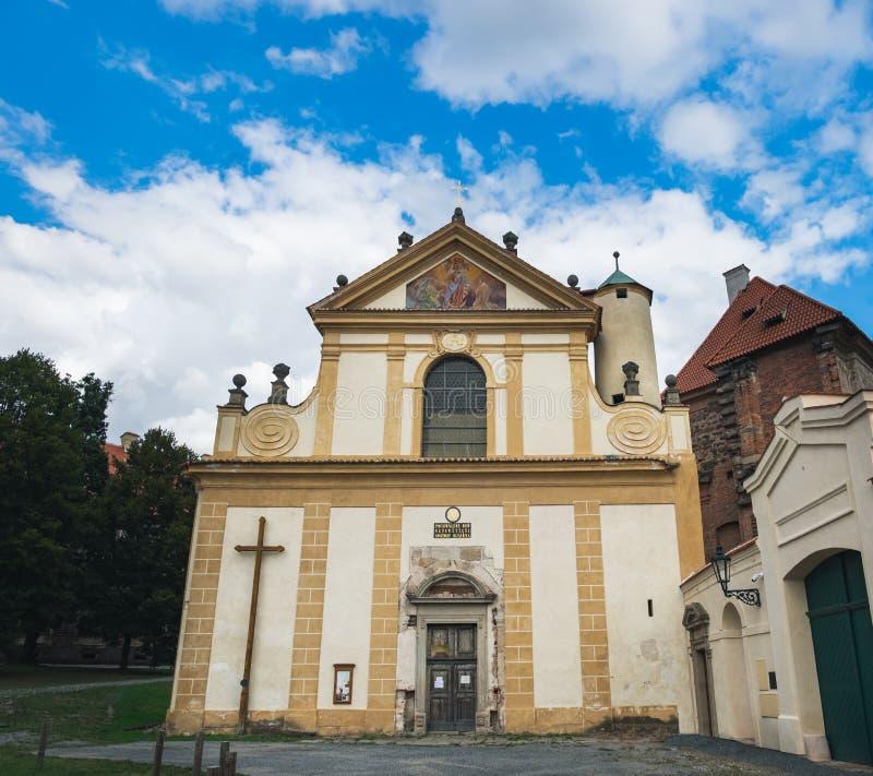 Igreja da suposição em Plasy, República Checa imagens de stock royalty free