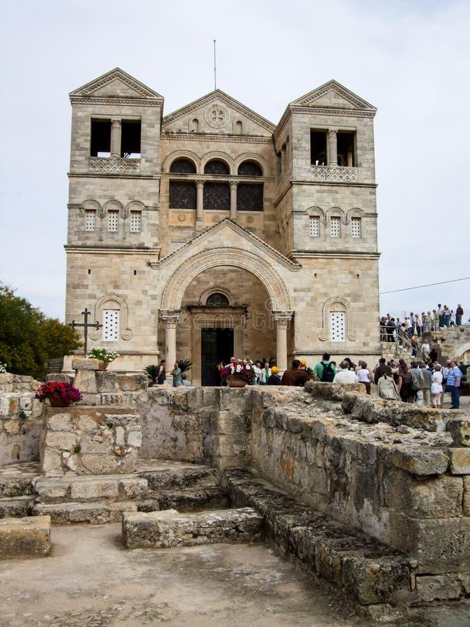 Igreja da transfiguração em Israel fotografia de stock royalty free