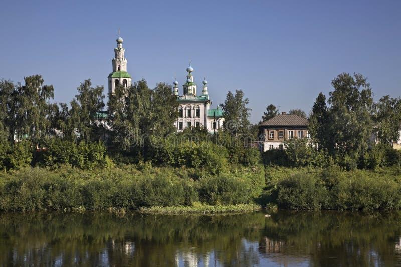 Igreja da transfiguração em Kungur Perm Krai Rússia imagem de stock