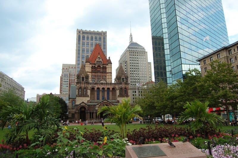 Igreja da trindade de Boston foto de stock royalty free