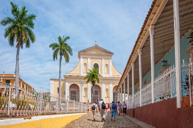 Igreja da trindade santamente em Trinidad, Cuba foto de stock royalty free