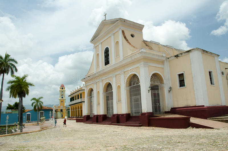 Igreja da trindade santamente - Trinidad - Cuba imagens de stock
