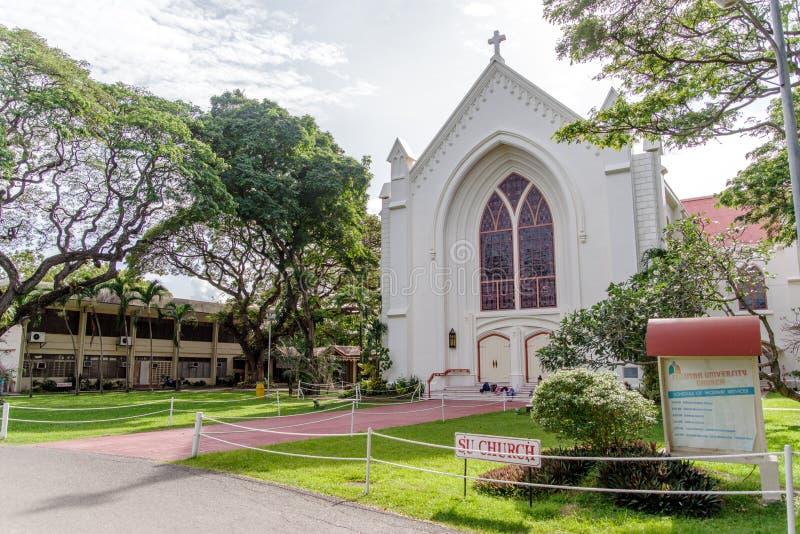 Igreja da universidade de Silliman na universidade de Silliman imagem de stock