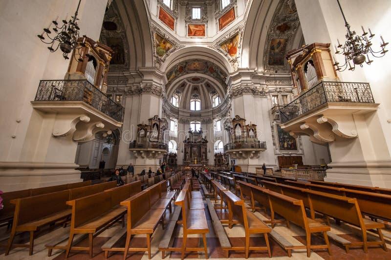 Igreja da universidade em Salzburg, Áustria imagem de stock royalty free