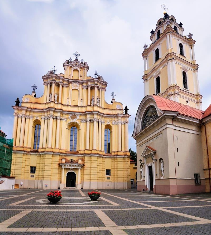 Igreja da universidade, Vilnius imagens de stock