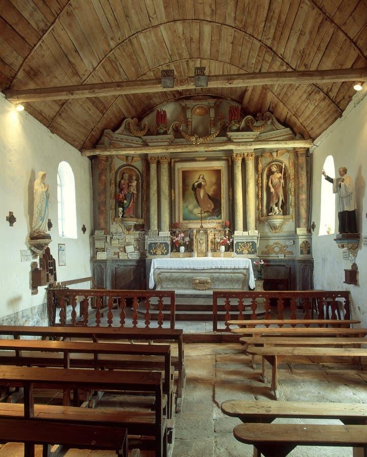 Igreja da vila, Quimper, Brittany, França fotos de stock royalty free