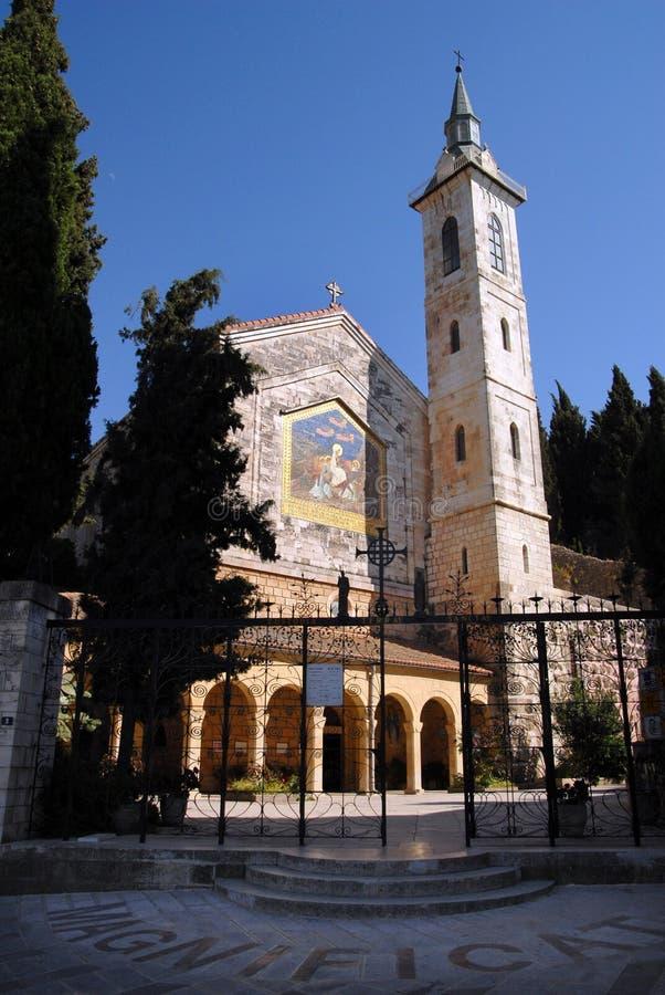 A igreja da visitação em Ein Karem foto de stock