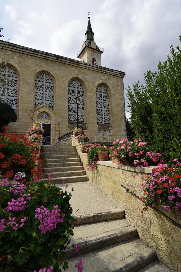 Igreja da visitação, Jerusalém foto de stock