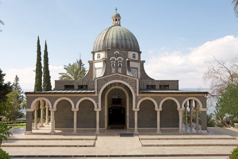 A igreja das beatitudes imagens de stock