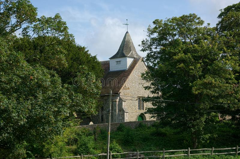Igreja de Alciston Sussex, Reino Unido fotos de stock