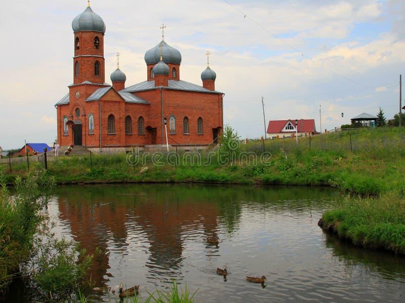 Igreja de Altai de São Nicolau fotografia de stock royalty free