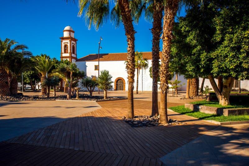 Igreja de Antígua na ilha de Fuerteventura fotos de stock