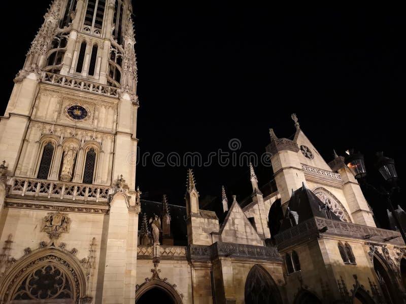 Igreja de Auxerrois do ` de Saint-Germano-l em Paris, França fotografia de stock royalty free