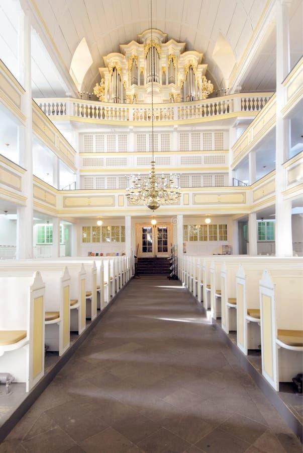 Igreja de Bach em Arnstadt, interior; Alemanha imagens de stock
