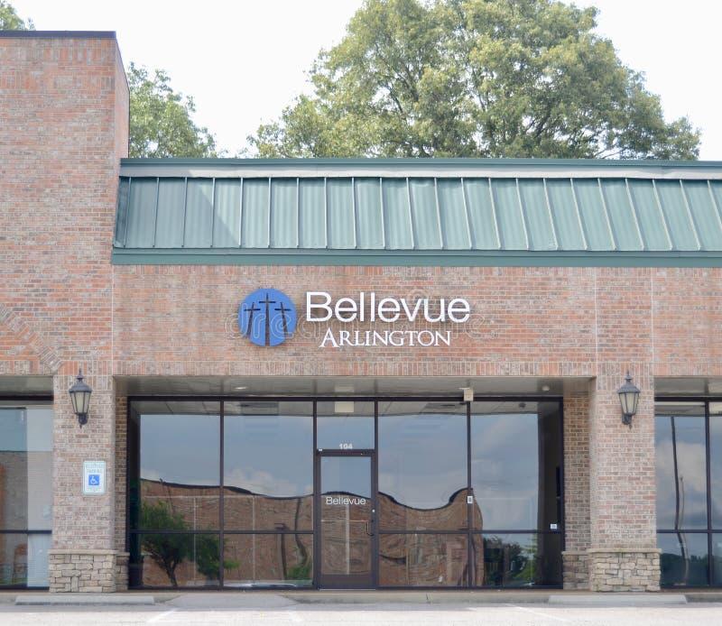 Igreja de Bellevue, Arlington, TN fotografia de stock