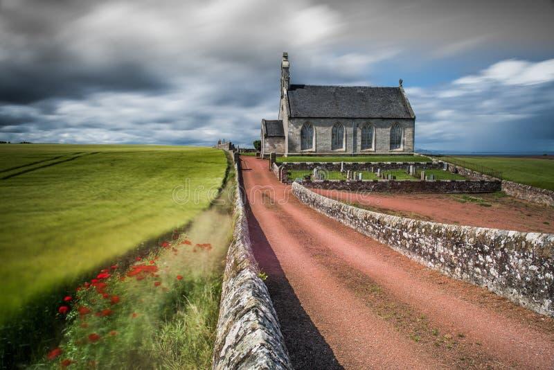 Igreja de Boarhill, pífano, Escócia fotos de stock royalty free