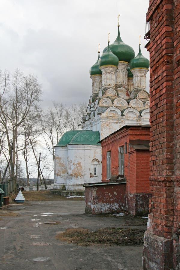 Igreja de Bogoroditse-Uspenskaya, Vladimir, Rússia imagens de stock