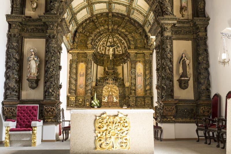 Igreja de Braganca de Santa Clara fotografia de stock