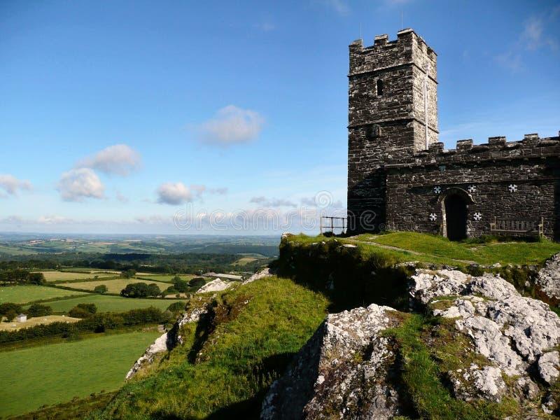 Igreja de Brentnor em Devon England fotografia de stock