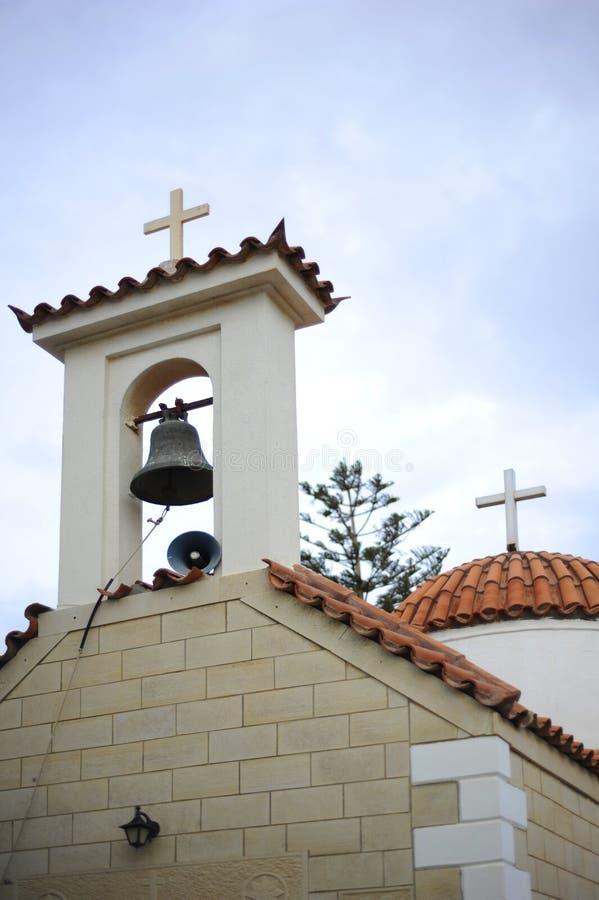 Igreja de Byzantian em Kokkini Hani fotografia de stock royalty free