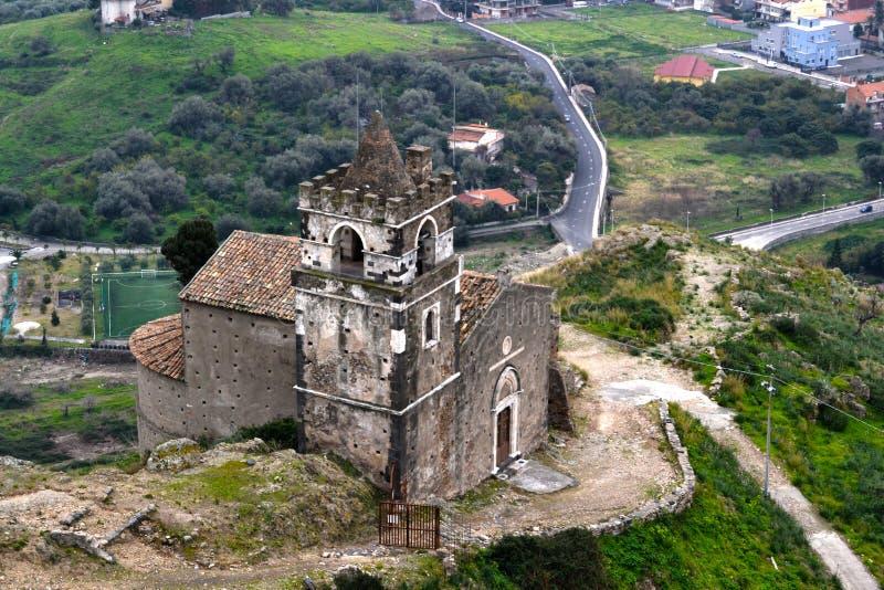Igreja de Calatabiano, Sicília fotografia de stock