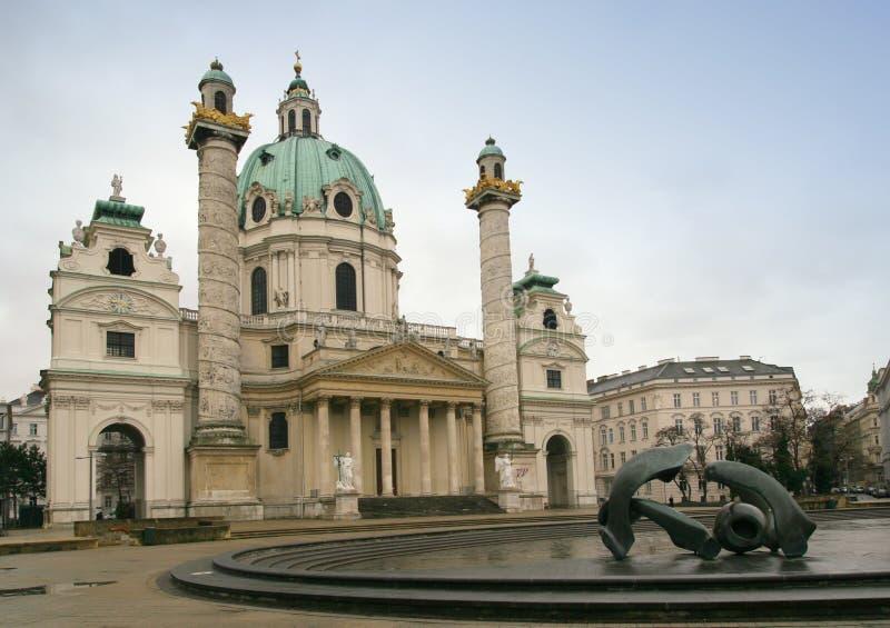 Igreja de Carls, Viena foto de stock royalty free