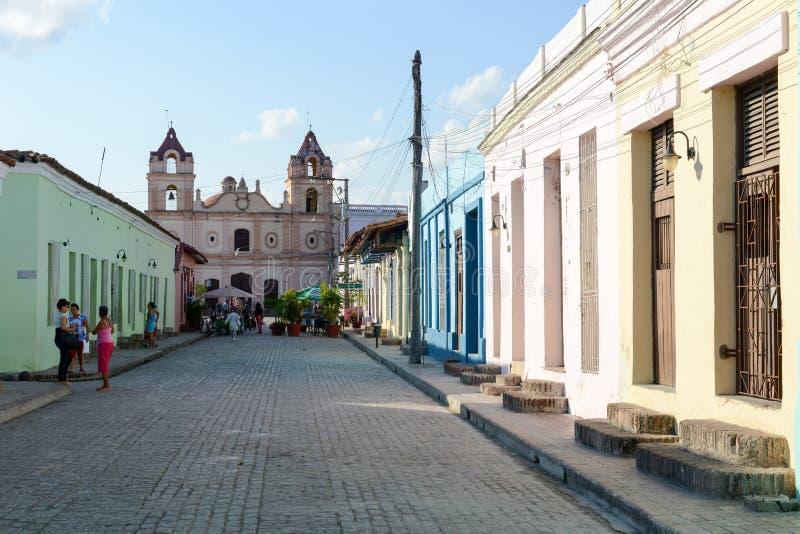 A igreja de Carmen em Camaguey colonial foto de stock