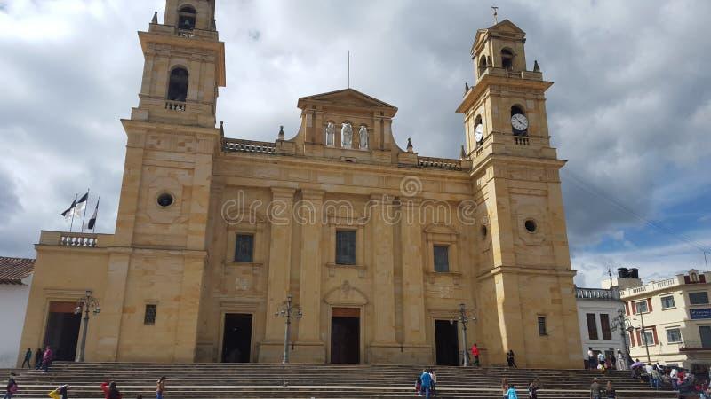 Igreja de Chiquinquira - Colômbia fotos de stock