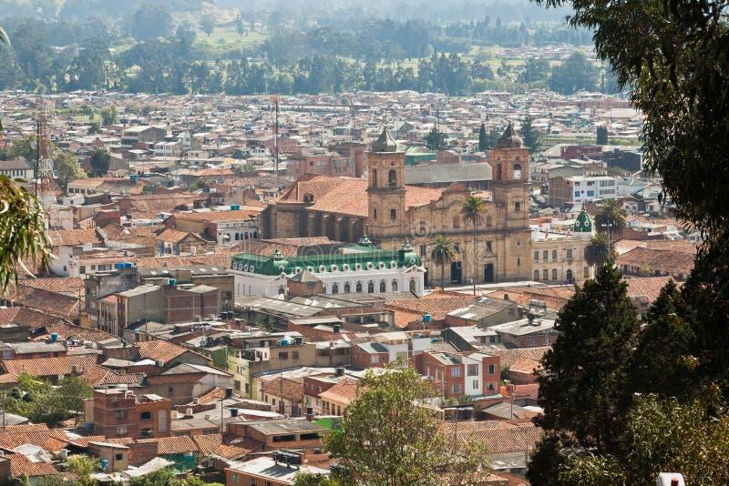 Igreja de Concepción em Zipaquira Colômbia fotografia de stock royalty free