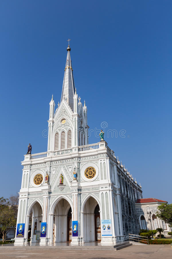 Igreja de Cristo em Tailândia imagens de stock