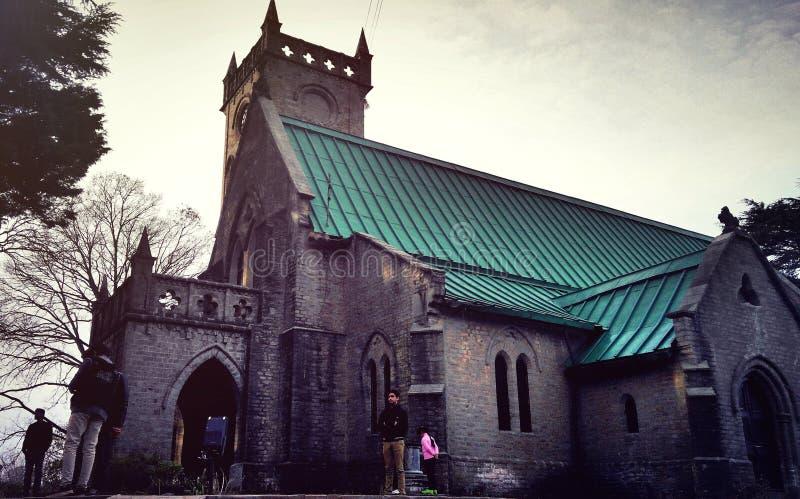 Igreja de Cristo & x28; India& x29 de Kasauli; fotografia de stock royalty free