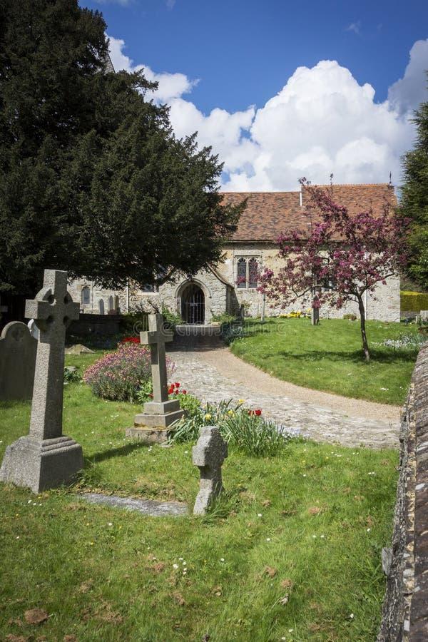 Igreja de Detling, Kent, Reino Unido fotos de stock royalty free