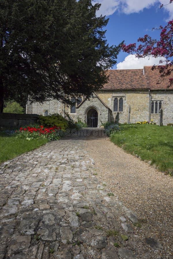 Igreja de Detling, Kent, Reino Unido foto de stock royalty free