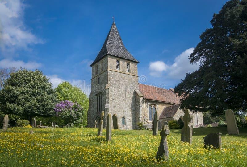 Igreja de Detling, Kent, Reino Unido imagens de stock royalty free