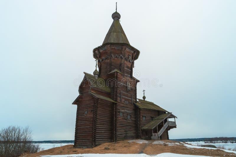 Igreja de Dormition de Kondopoga fotos de stock royalty free