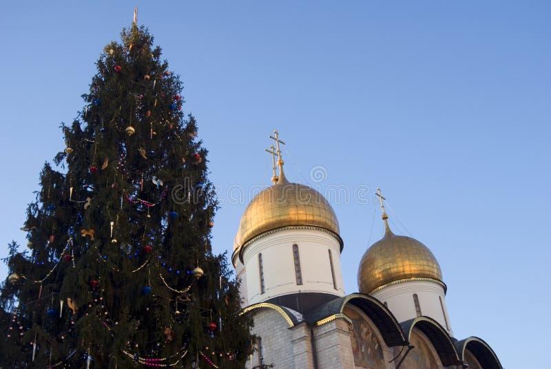 Igreja de Dormition do Kremlin de Moscou Foto a cores imagem de stock royalty free