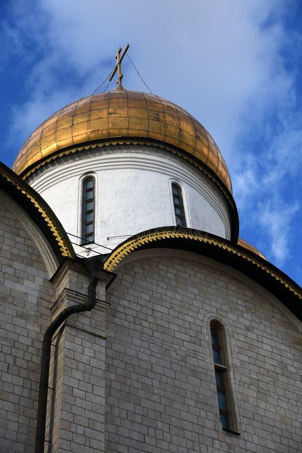 Igreja de Dormition do Kremlin de Moscou Local do património mundial do Unesco fotografia de stock royalty free