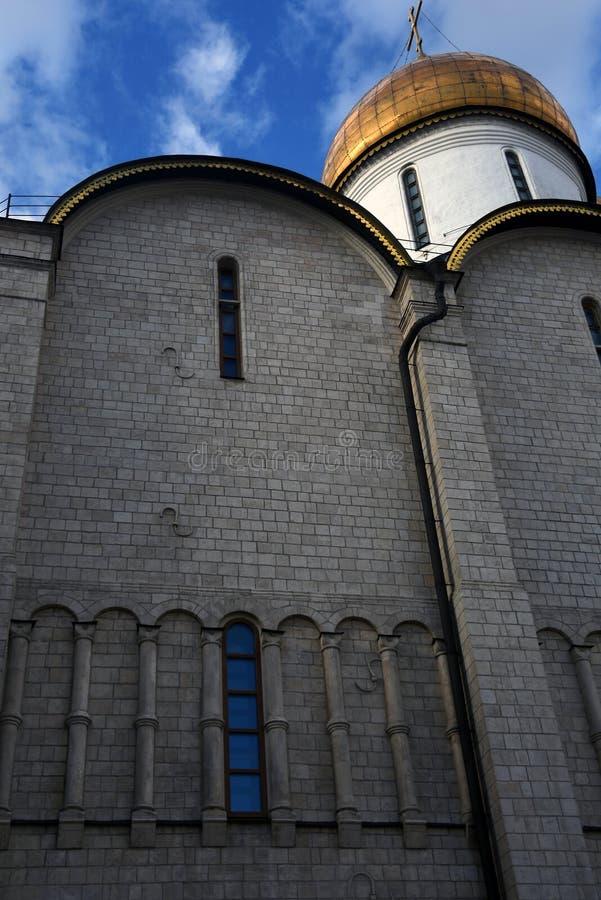 Igreja de Dormition do Kremlin de Moscou Local do património mundial do Unesco imagens de stock royalty free