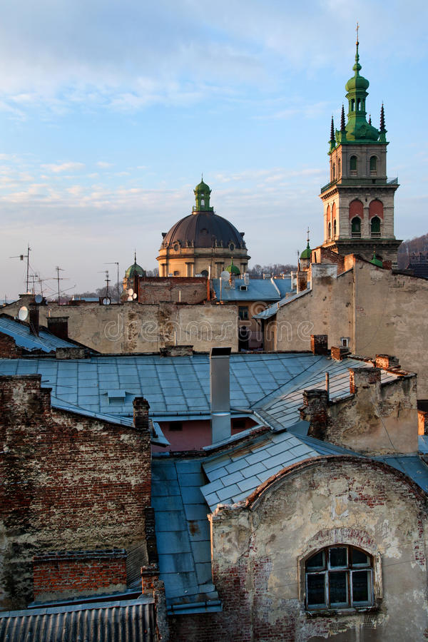 Igreja de Dormition em Lviv foto de stock royalty free