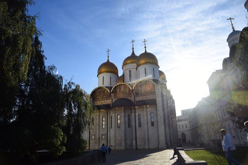 Igreja de Dormition Marco do Kremlin de Moscou Local do patrim?nio mundial do Unesco imagens de stock royalty free
