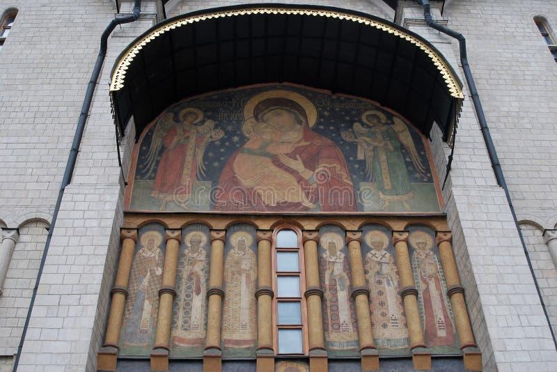 Igreja de Dormition Moscovo Kremlin Herança do UNESCO imagem de stock