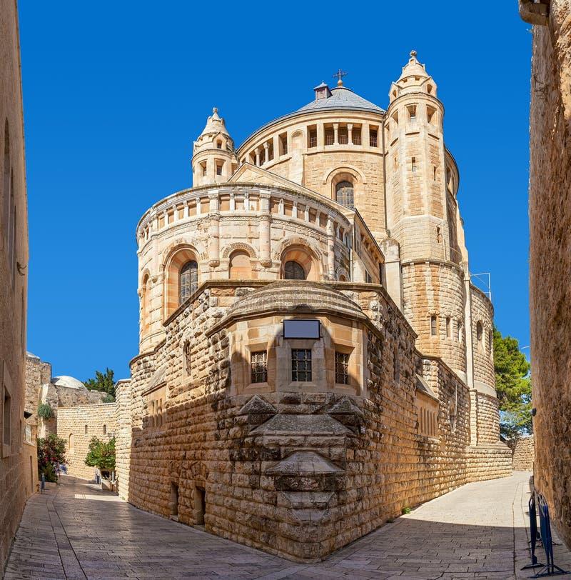 Igreja de Dormition no Jerusalém, Israel imagens de stock royalty free