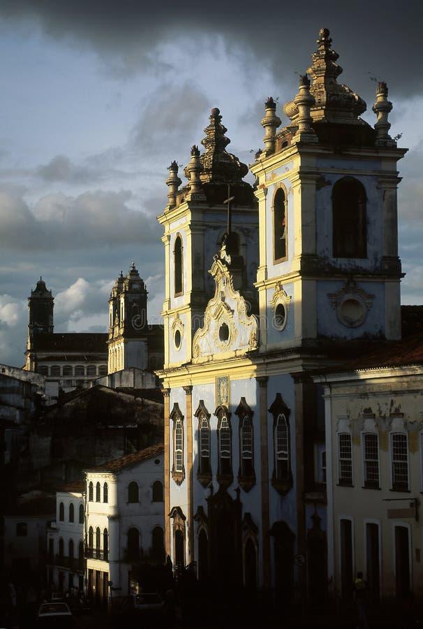 A igreja de dos Pretos de Nossa Senhora em Salvador, Brasil foto de stock royalty free