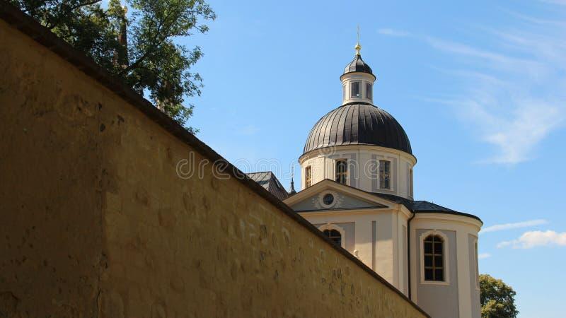 Igreja de Evangelische em Neuzelle fotos de stock