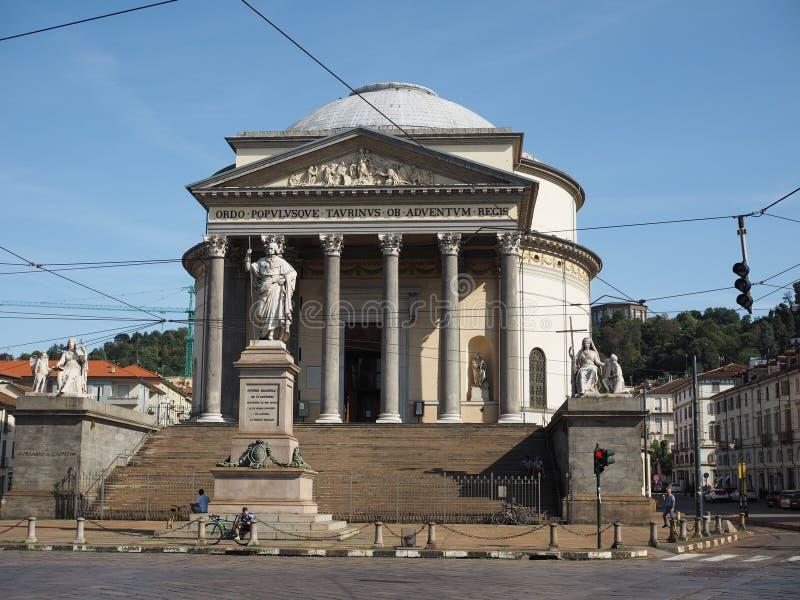 Igreja de Gran Madre em Turin fotografia de stock royalty free
