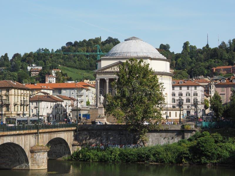 Igreja de Gran Madre em Turin imagens de stock royalty free
