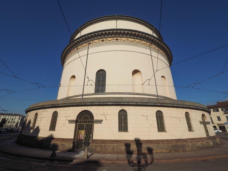 Igreja de Gran Madre em Turin imagens de stock