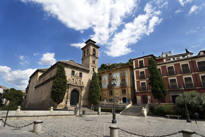 Igreja de Granada de St Anne e de Saint Gil fotografia de stock