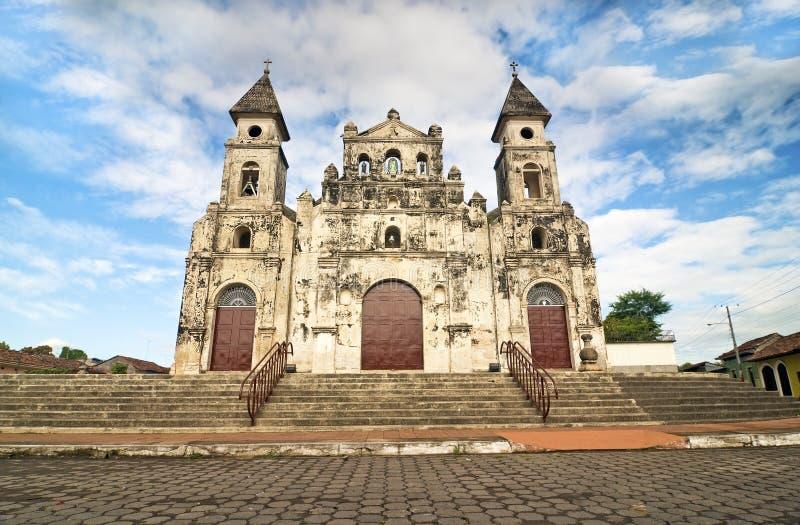 Igreja de Guadalupe em Granada, Nicarágua fotos de stock royalty free
